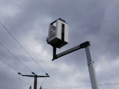 Nacelle. Détecteur de lignes électriques aériennes haute tension