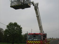 Aerial means of firemen